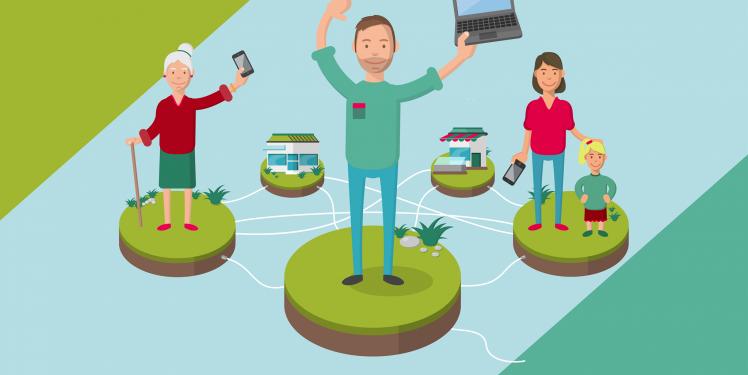 Digitale Dörfer: vernetzte Bürger