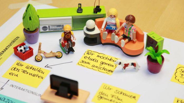 Digitale Ökosysteme - Visualisierung der Nutzeraktivitäten mit Playmobil®-Figuren