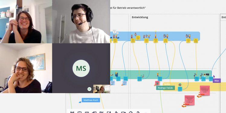 Digitale Ökosysteme - Gemeinsames Gestalten via Teams und Miro