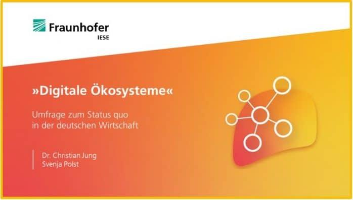 PDF zur Digitale Ökosysteme Umfrage des Fraunhofer IESE