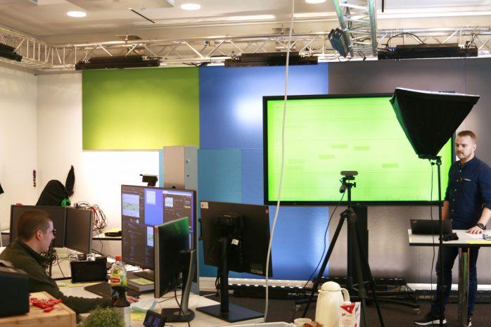 PFAFF HACK: Online-Hackthon für Klimaschutz (Studio-Aufbau mit Green-Screen für virtuelle Gäste)