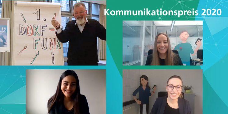 Kommunikationspreis 2020: DorfFunk belegt 1. Platz