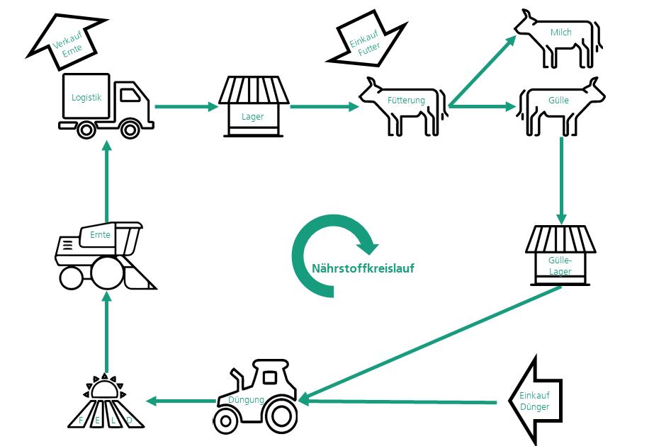 Nährstoffkreislauf in der Landwirtschaft (Fraunhofer IESE)